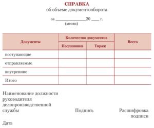 Справка об объеме документооборота в Федеральном агентстве по образованию