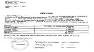 Справка о заработной плате за 3 месяца для соцзащиты: образец