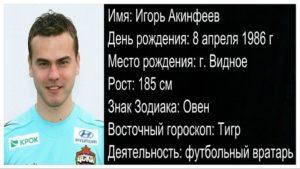 Сколько зарабатывает Игорь Акинфеев