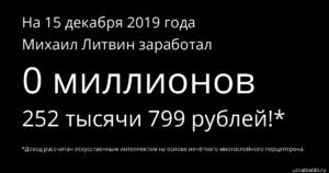 Сколько зарабатывает Михаил Литвин: приблизительные подсчёты