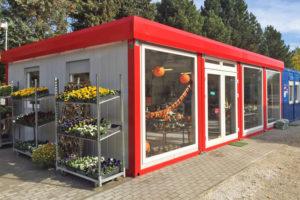 Передвижной магазин цветов