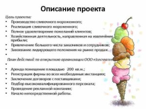 Бизнес план производства мороженого с расчетами
